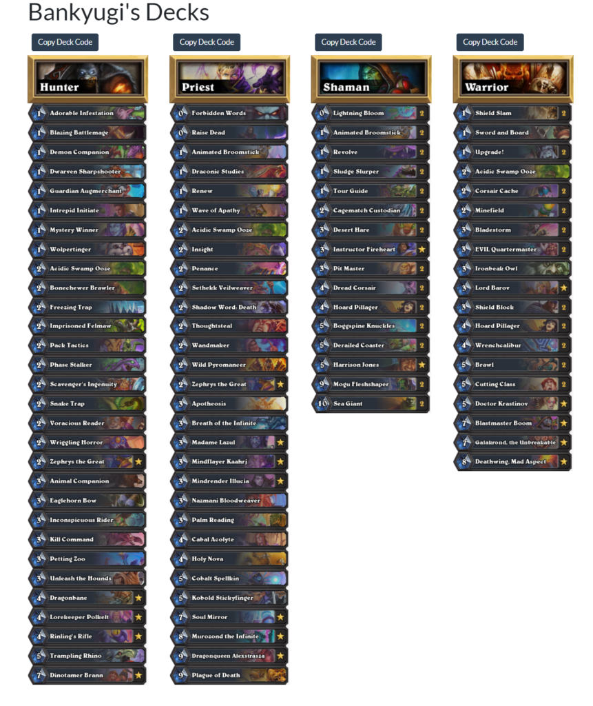 Bankyugi lineup